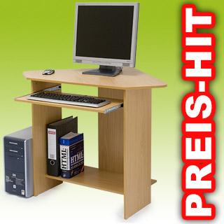 computertisch ecktisch tisch schreibtisch florian neu ebay. Black Bedroom Furniture Sets. Home Design Ideas