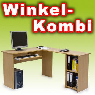 winkelkombination ecktisch computertisch schreibtisch ebay. Black Bedroom Furniture Sets. Home Design Ideas