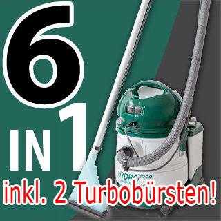 profi teppichreiniger 7 in 1 waschsauger hydro 7000 inkl 2 turbo b rsten online kaufen. Black Bedroom Furniture Sets. Home Design Ideas