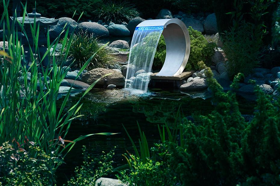 mamba inkl led edelstahl springbrunnen wasserfall ubbink 7504459 teich produkte brunnen. Black Bedroom Furniture Sets. Home Design Ideas