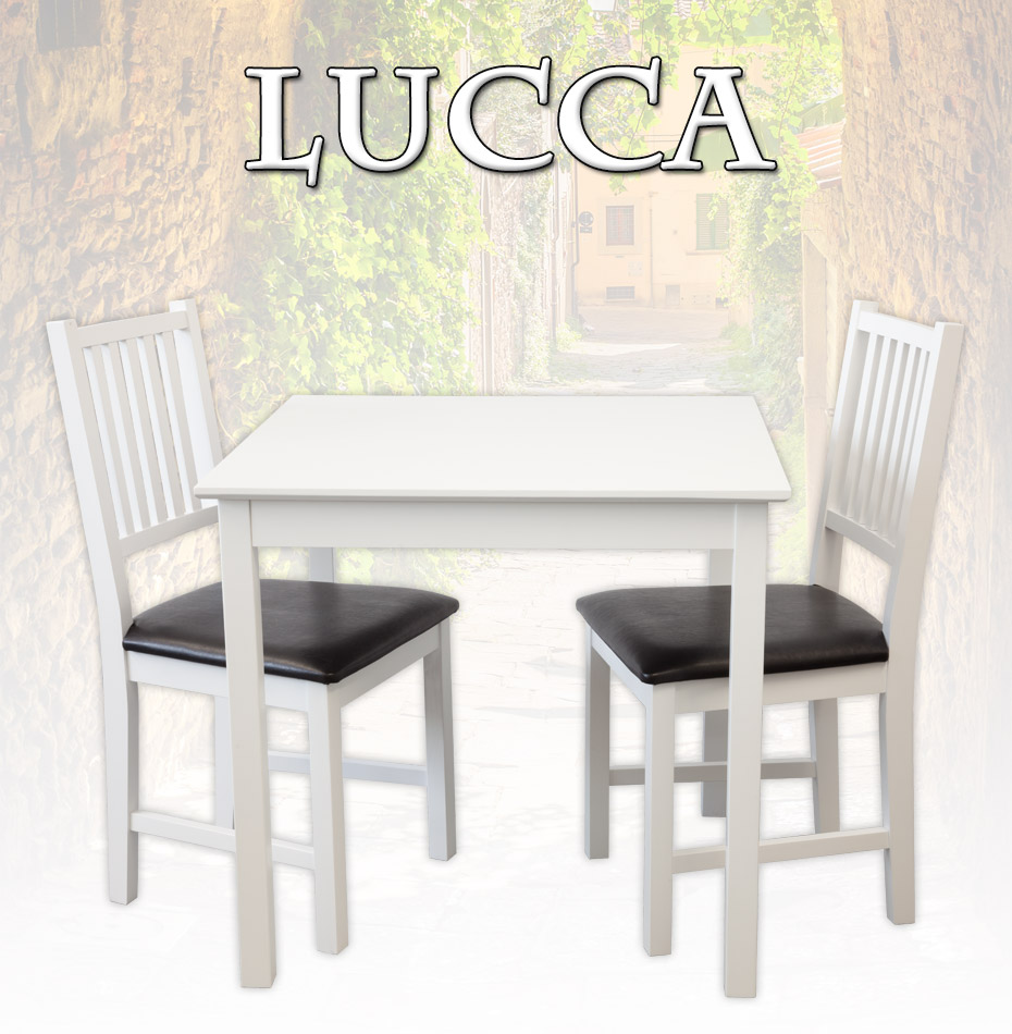 tischgruppe lucca tisch 2 st hle birke massiv wei essgruppe esstisch gastro ebay. Black Bedroom Furniture Sets. Home Design Ideas
