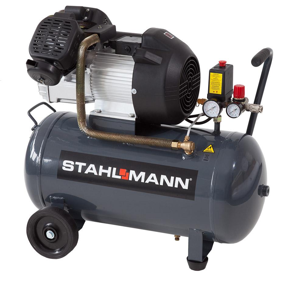 stahlmann 50 l kolbenkompressor 2 2kw 10 bar kupfergewickelt kompressor 50l ebay. Black Bedroom Furniture Sets. Home Design Ideas