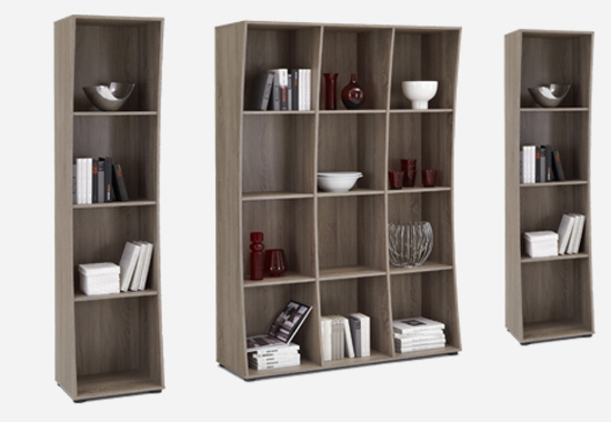 regal libro 1 eiche dunkel standregal b cherregal b roregal ebay. Black Bedroom Furniture Sets. Home Design Ideas