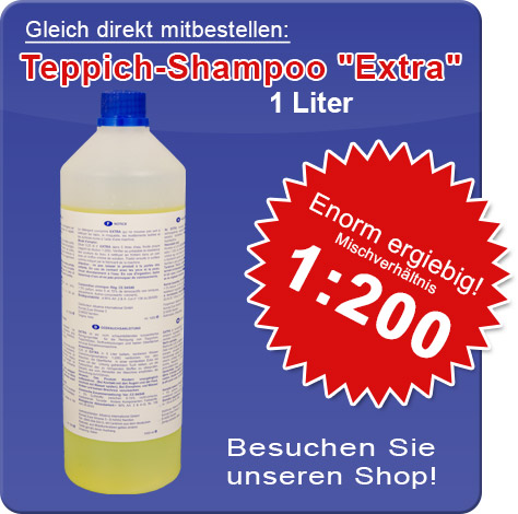 Teppich-Shampoo 'Extra', in unserem Shop!