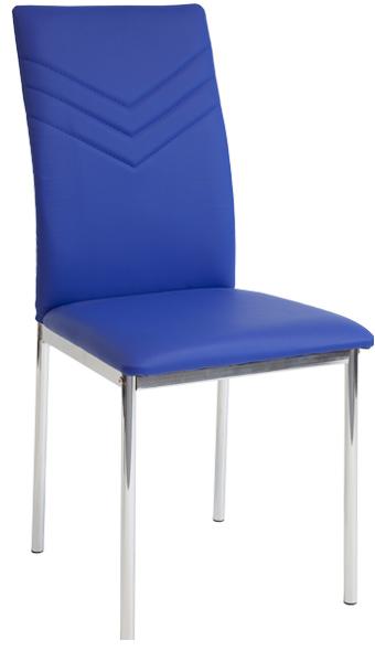 4 x esszimmerst hle verona blau chrom esszimmerstuhl for Dunord design stuhl verona