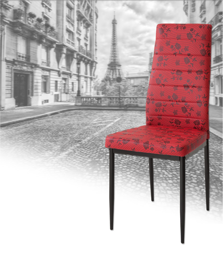 2 x designer st hle paris rot polsterst hle. Black Bedroom Furniture Sets. Home Design Ideas