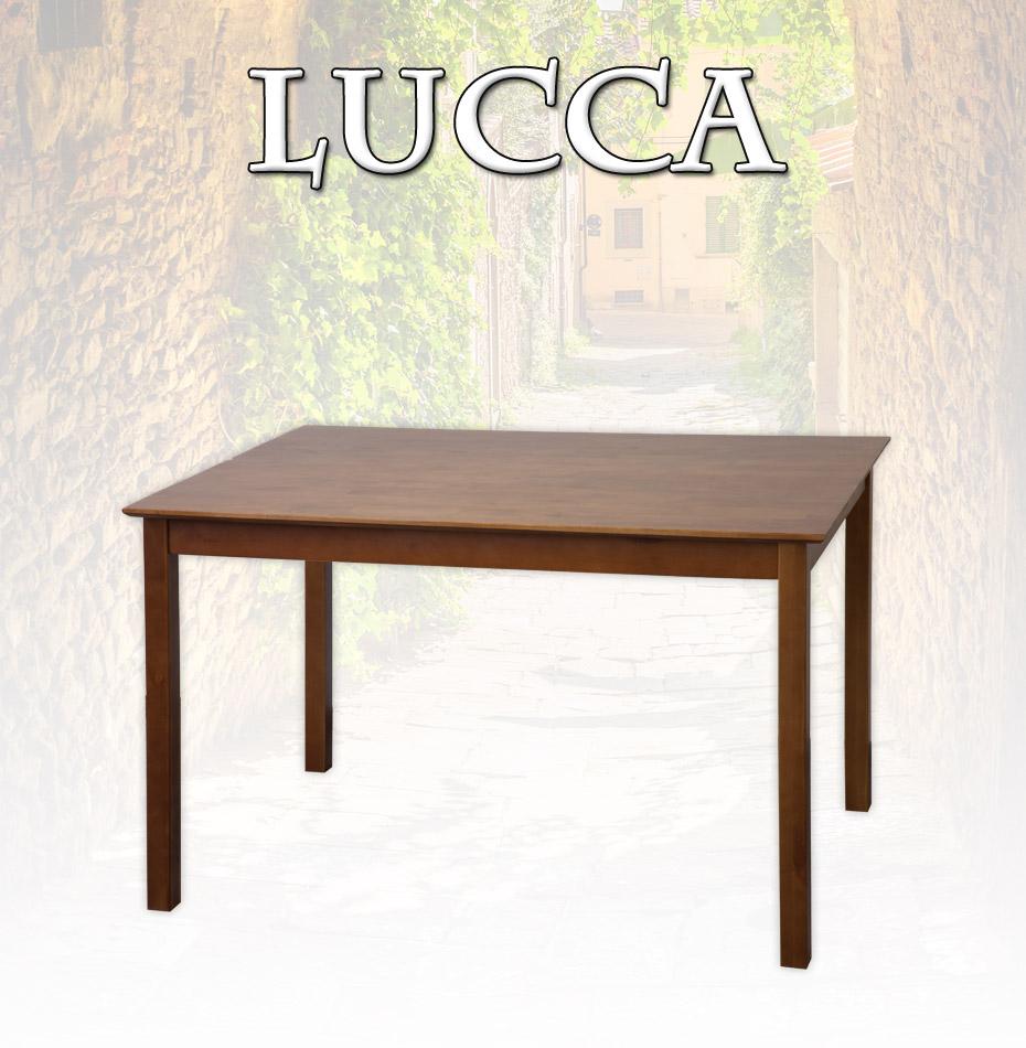 Tisch Esstisch LUCCA 120 x 80 cm Birke massiv in Nussbaum gebeizt Gastro
