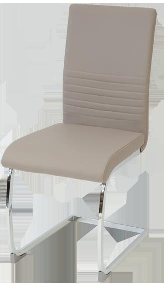 esszimmerst hle burano 4er set beige freischwinger schwing stuhl leder chrom 4250263735867 ebay. Black Bedroom Furniture Sets. Home Design Ideas