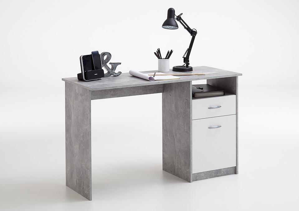 Schreibtisch computertisch jackson b rotisch beton for Schreibtisch tiefe